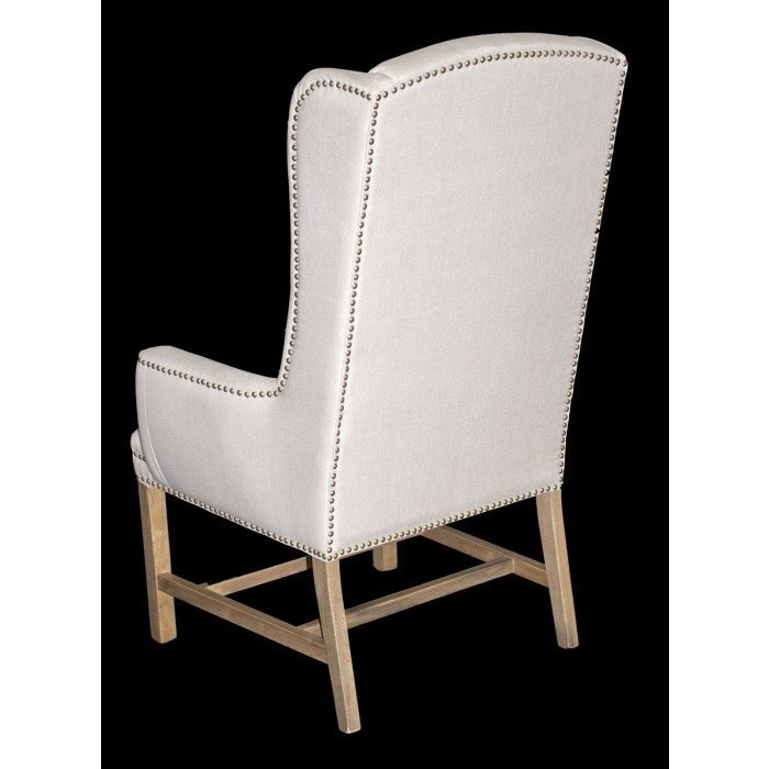 ... Linen Wing Back Chair ...