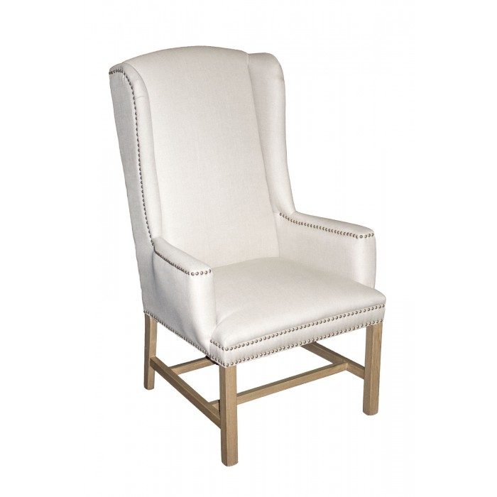 Bon Linen Wing Back Chair ...