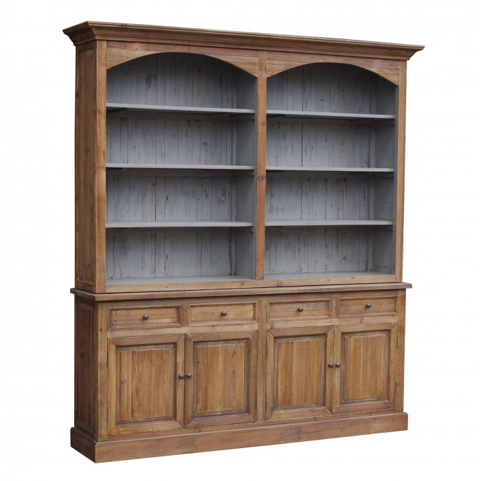Reclaimed Pine 2-Arch Bookcase CT7434