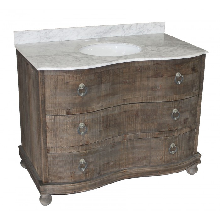 Reclaimed Pine 2-Drawer Vanity