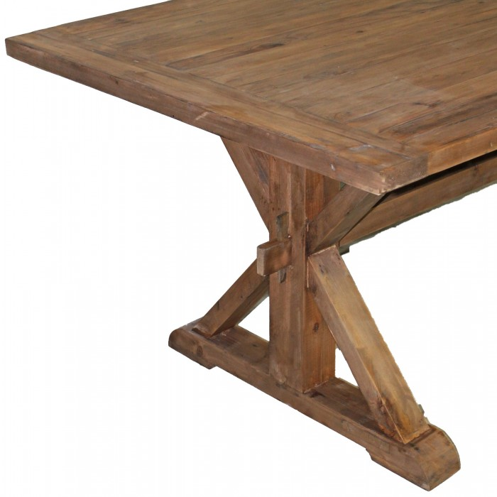 NLP Pine Top Dining Table - X base dining table