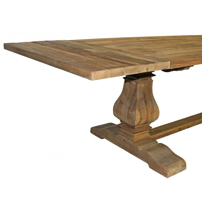JJ Pine Dining Table - 72 trestle dining table