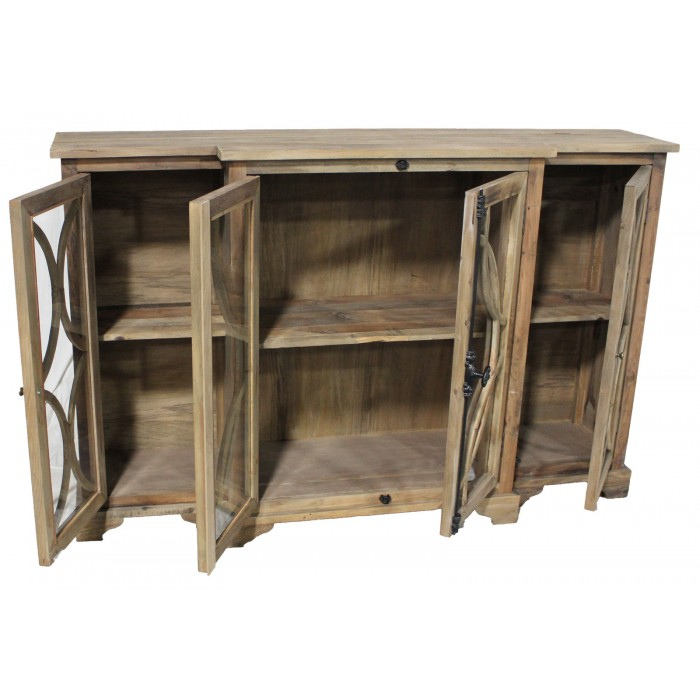 Knotty Pine Kitchen Cabinets Wholesale: TH-474 Large Carved Pine Cabinet
