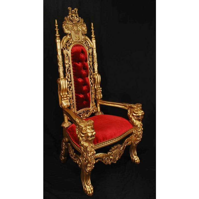 Gold Red King Lion Throne Chair Lk 1 Gr