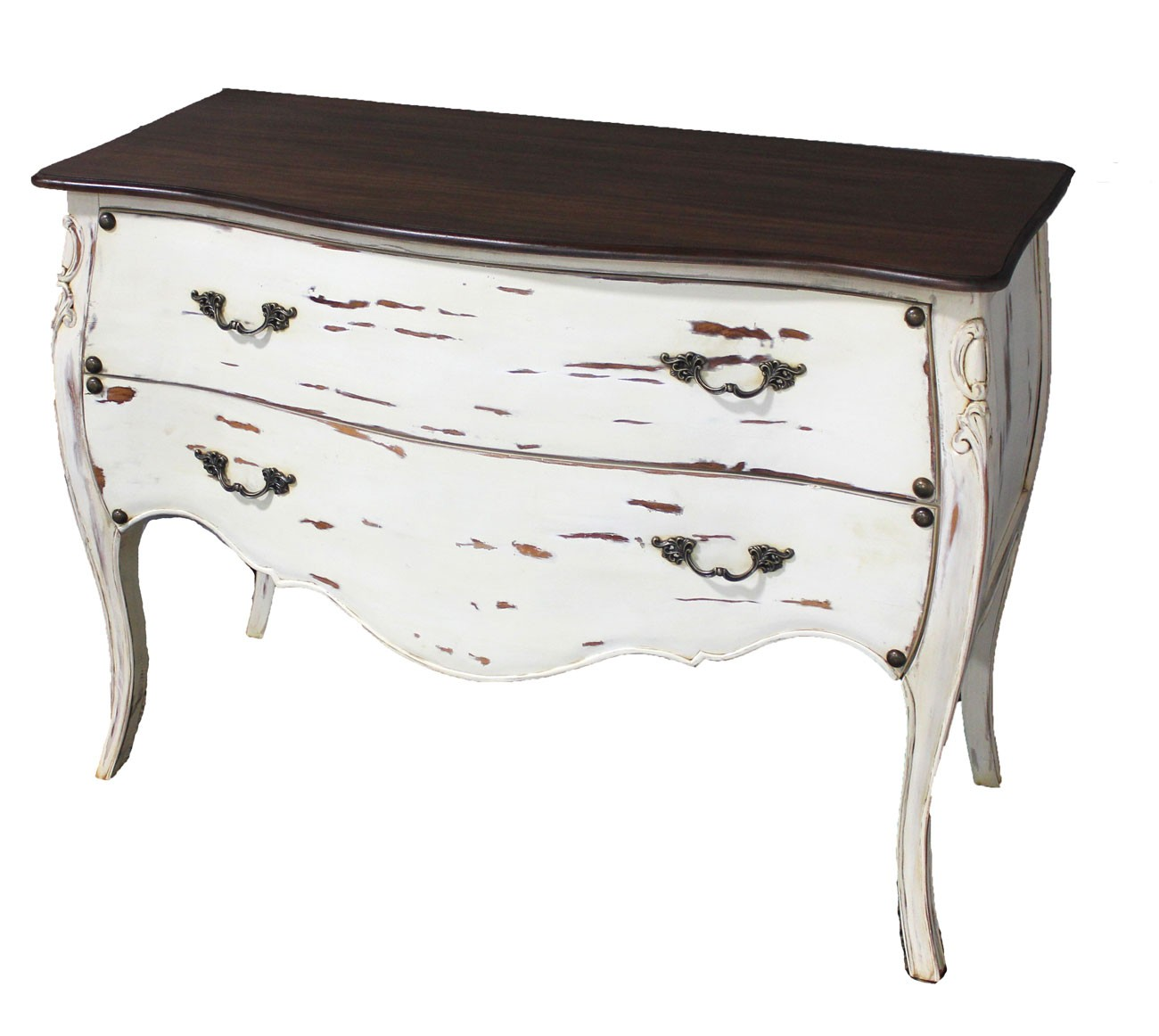 2 Drawer Distressed Bombay Chest