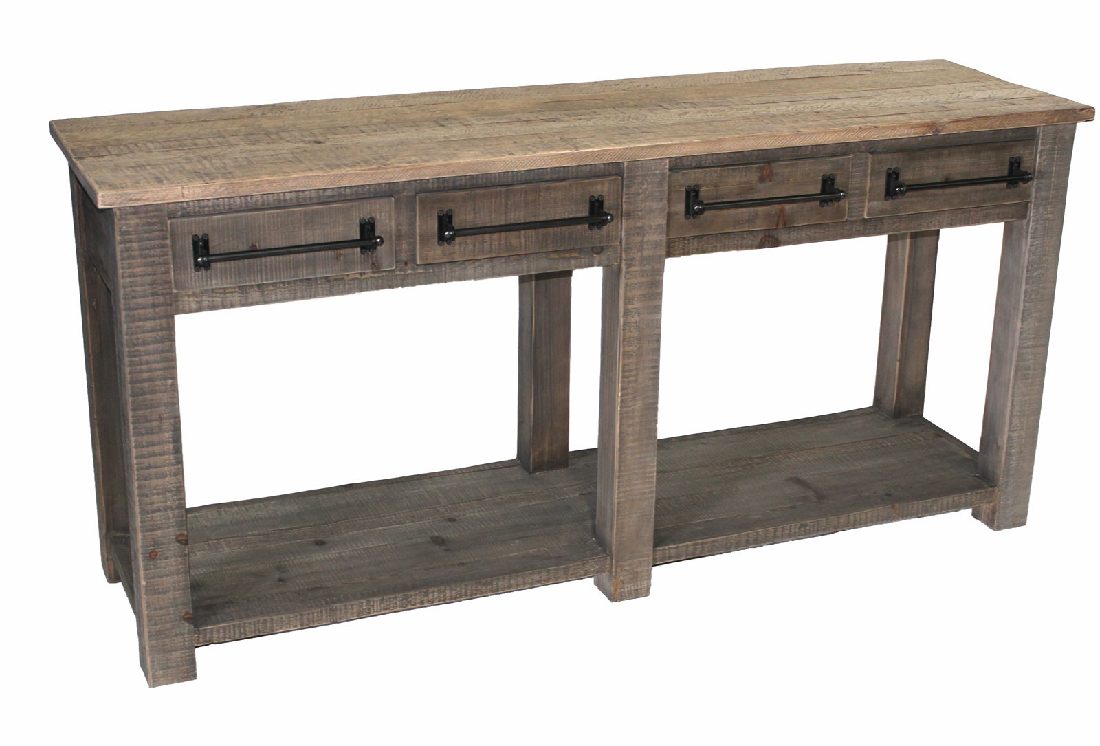 Jj 1567 pine 4 drawer sofa table - Pine sofa table with drawers ...