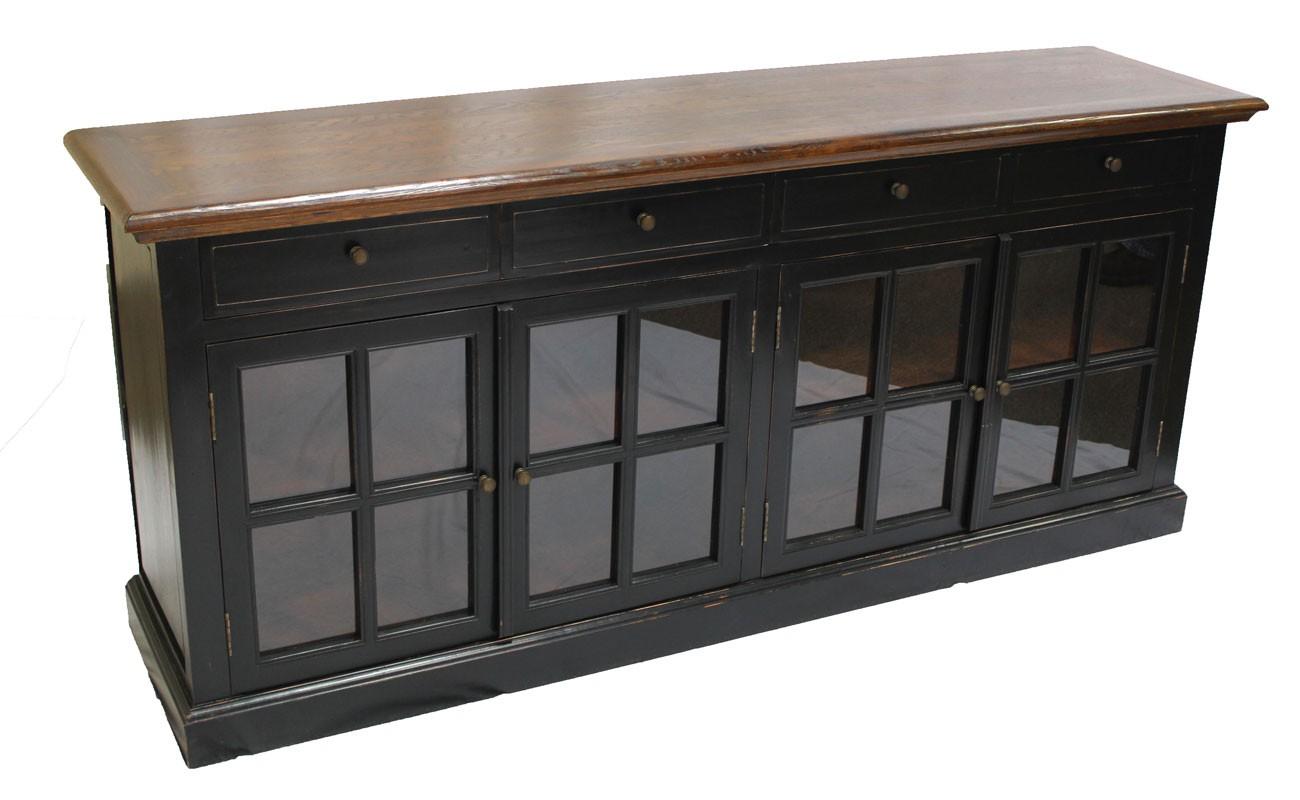 black sideboard 4 glass doors sd 003. Black Bedroom Furniture Sets. Home Design Ideas
