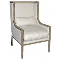Carolyn Linen Wing Chair