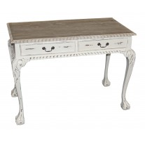 White 2-Drawer Desk