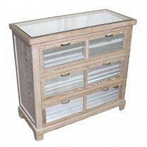 Mirror Shutter Drawer Chest