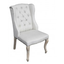 IC123NL Linen Tufted Chair