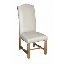 Stitched Linen Side Chair