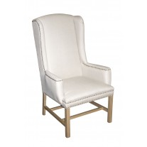 IC170-NL Tall Linen Wing Chair