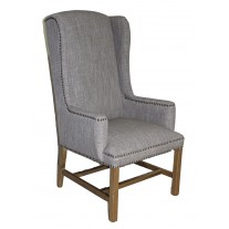 IC170-SG Tall Smoke Grey Wing Chair