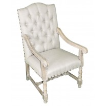 IC192 Tufted Linen Arm Chair