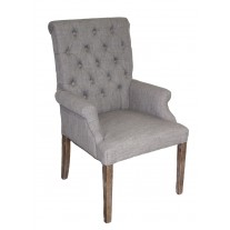 Rolled Arm Tufted Chair
