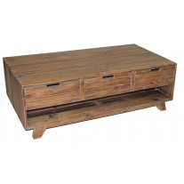Pine 6-Drawer Coffee Table