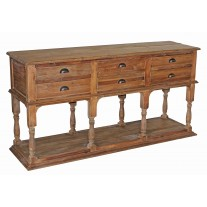 Reclaimed Pine 6-Drawer Sideboard