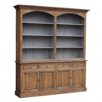 Reclaimed Pine 2-Arch Bookcase