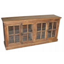 Pine 4-Door Low Sideboard