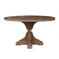 Pine Column Round Dining Table