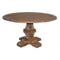 Square Base Round Dining Table