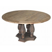 Round Column Base Dining Table