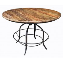 Round Adjustable Dining Table