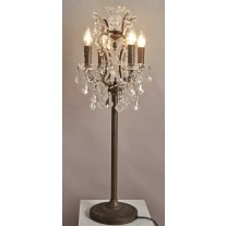 Ornate Crystal Table Lamp