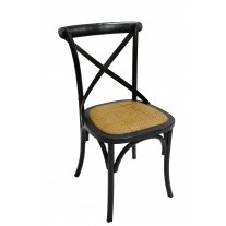 Black X-Back Side Chair