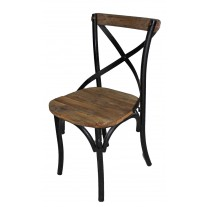 Iron X-Back Side chair