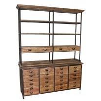 Pine Printmaker Bookcase