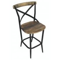 Iron X-Back Bar Chair