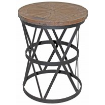 Iron Round Side Table