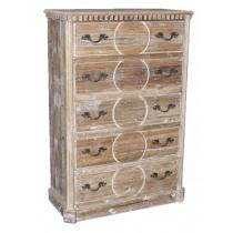 jj-Q1778 carved pine chest