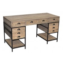 JJ-1708 Reclaimed Oak desk