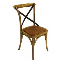 Natural X-back side chair