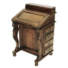 Davenport Wood Lift Top 26C Brown Mahogany
