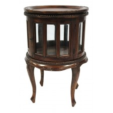 Round Tea Table 33F Brown Mahogany