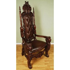 Brown/Brown Lion King Throne