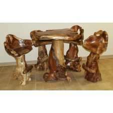 Teak Stump 5-Pc Bar Set