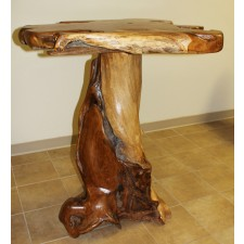 Teak Stump Bar Table