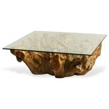 Rectangle Class Top Coffee Table