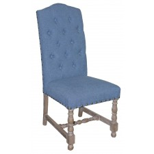 IC191 Tufted Back Linen Side Chair