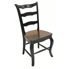 Black Side Chair Oak Seat