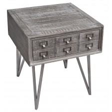 jj-1770 modern pine 1-drawer end table