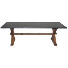NL-186Z Zinc top dining table