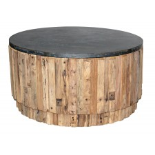 Zinc Top Round Coffee Table