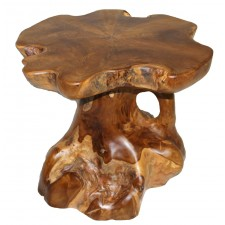 Teak Stump Small Side Table