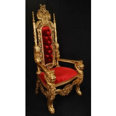 Gold/Red King Lion Throne Chair